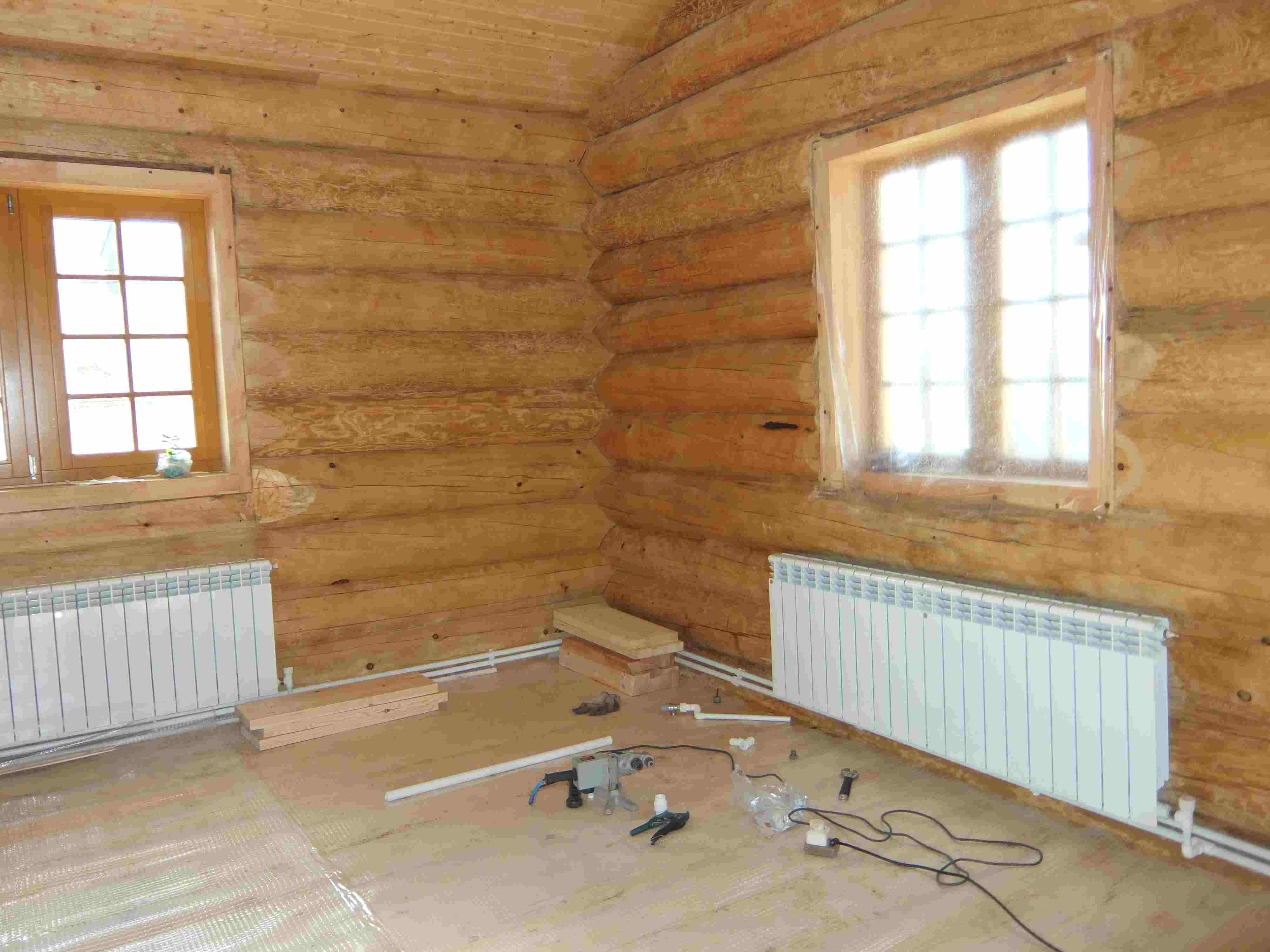 Отопление в деревянном доме своими руками фото